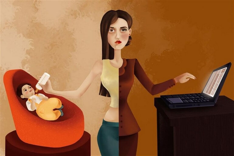 Изображение для статьи мысли вслух о балансе между семьей и работой