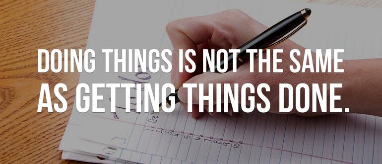 Фото использования Getting Things Done