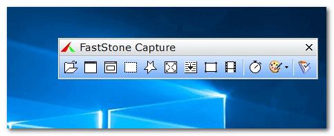 Изображение рабочего меню моего любимого скриншотера FastStone Capture
